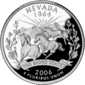 Nevada quarter dollar coin