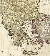Part of a map of the Mediterranean Sea and adjacent regions by William Faden, March 1785