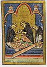 Illustration of Cuthbert's incorrupt body