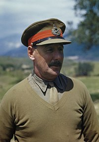 Lieutenant General Sir Oliver Leese, commander of the British Eighth Army in Italy, 30 April 1944. TR1759.jpg