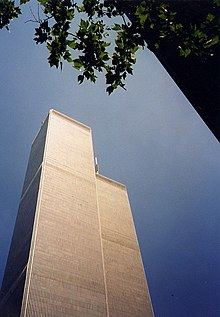 World Trade Center Viewed From Ground New York City 1999.jpg