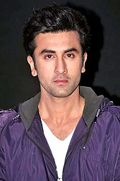 Ranbir Kapoor looks directly at the camera
