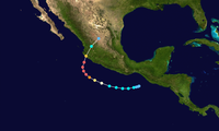 Track map of Hurricane Patricia