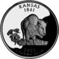 Kansas quarter dollar coin