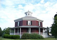 The Wilcox Octagon House, Camillus, New York (built in 1856)