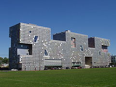 Simmons Hall, MIT, Cambridge, Massachusetts.JPG