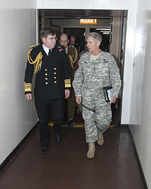 General Walter L. Sharp walks with Sea Lord Admiral, Sir Mark Stanhope.jpg