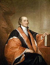 Formal portrait of Chief Justice John Jay, wearing judge's robe