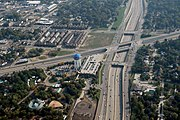 Aerial view of the Detroit Zoo, I-696 and M-1 (Woodward Avenue)