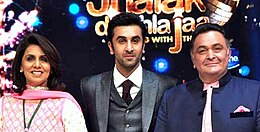 Ranbir Kapoor is posing with his father and mother