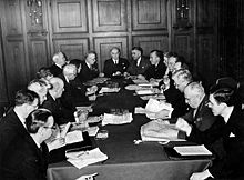 Canadian Delegation to the United Nations seated around conference table