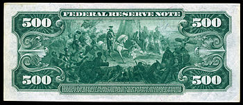 Reverse of a $500 Federal Reserve Note