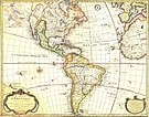 Antique map of the Americas