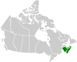 Map of Maritime Provinces