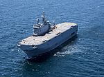 French amphibious assault ship Dixmude (L9015) underway off Cadiz in May 2015.JPG