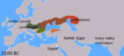 IE languages 2500 BC