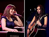 Marit Larsen in 2009 (left) and Marion Raven in 2007 (right)