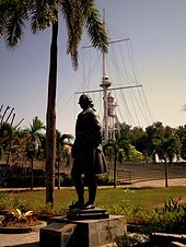 Statue of Francis Light in the Fort of Cornwallis