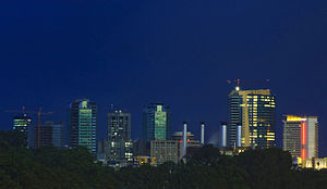 Port of Spain night skyline 2008.jpg