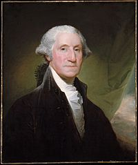 Painting by Gilbert Stuart (1795), formal portrait of President George Washington