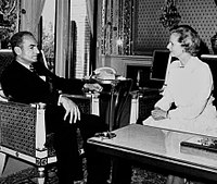 photograph of Thatcher and Mohammad Reza