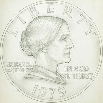 Susan B. Anthony dollar design